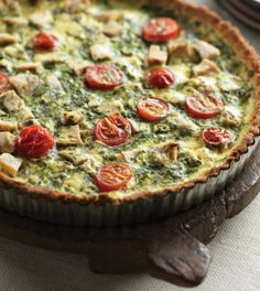 Mediterranean Chicken & Vegetable Quiche | Clean Eating