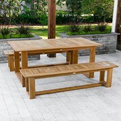 Horizon Extendable Teak Bench Set - Westminster Teak Outdoor Furniture