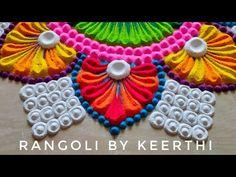 Simple rangoli design for janmashtami l krishnashtami special muggulu l krishna jayanthi kolam - YouTube