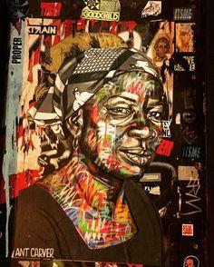 Color con intensas expresiones de mujer ... Sigue Arty City @arty.city #art #streetartlondon #streetartistry #arteurbano #bricklane #artist