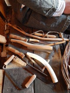 A selection of bone working tools