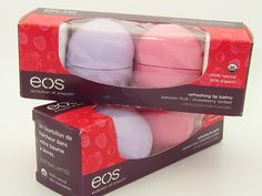 Let's start if off right with an EOS Refreshing Lip Balm Set that features limited edition flavas in Passion Fruit and Sorbet, Eos Chapstick, Eos Products, Muse, Love Lips, Best Lip Balm, Baby Lips, Beautiful Lips, Lip Care