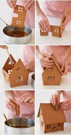 How to make a Christmas gingerbread house - Step by Step tutorial