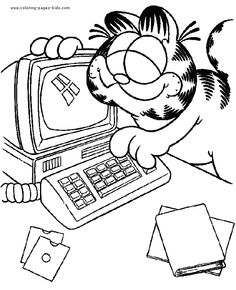Free Printable Garfield Coloring Pages For Kids | Jim davis, Free ...