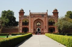 Main entrance to the Tomb of Itimad-ud-Daulah, Agra Entrance Gates, Main Entrance, India Travel Guide, Indian Architecture, India Tour, Historical Monuments, Agra, Day Tours, Taj Mahal