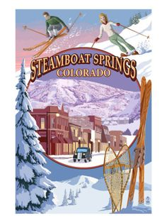 Steamboat Springs, Colorado - been there many times!  Awesome place to live...and to visit.