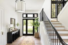 Bria Hammel Interiors gives this suburban Twin Cities home the character of a traditional Tudor with livability for a modern family Tudor House, Traditional Interior, Traditional House, Modern Traditional Decor, Maison Tudor, Casas Tudor, Modern Foyer, Modern Living, Tudor Style Homes