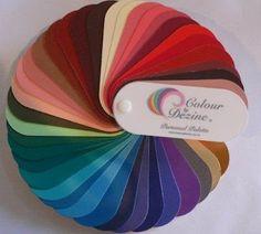 contrasting chestnut spring. Color Alliance Jeunique Sample Palettes