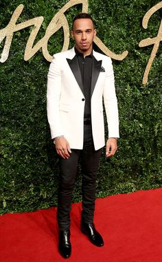 Lewis Hamilton from 2015 British Fashion Awards Red Carpet Arrivals | E! Online