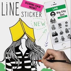 DOWNLOAD NOW SWAGGY STICKER◼️ [Big City Girl] http://line.me/R/shop/detail/1118655 #drawings  #workinprogress  #art  #canvas  #painting  #doodles  #sketchbook  #graphicdesign  #design  #artgallery  #poster  #artwork  #cartoon  #vector  #illustration  #brush  #love  #colorful  #animalprint  #instacute  #psychedelic  #gallery  #artfido  #nawden  #artist  #watercolor  #ink  #pendrawing