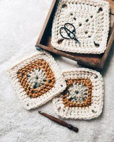 PATTERN: The Pebbles Granny Square Easy Crochet Blanket