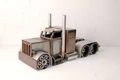 metal semi truck by devincahow on Etsy