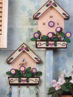 Plastic Canvas - Accessories - Decorations & Knickknacks - Pretty Birdhouses - #FP00036