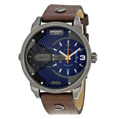 Mini Daddy Blue Textured Dial Quartz Men's Watch