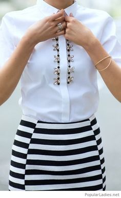 LoLoBu - Women look, Fashion and Style Ideas and Inspiration, Dress and Skirt Look Work Fashion, Fashion Details, Fashion Top, Classy Fashion, Nyc Fashion, Fashion Ideas, Mode Outfits, Chic Outfits, Mode Style