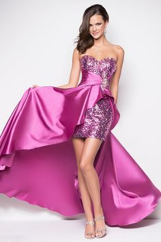 Luxurious 2013 Prom Dresses Floor Length Sweetheart Satin Beading/Sequins Asymmetrical