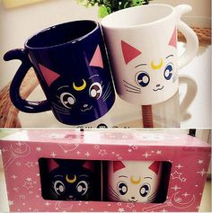 Sailor Moon Crystal 20th Anniversary Luna & Artemis lovers Mug Cup gift 2 pcs | eBay | @giftryapp