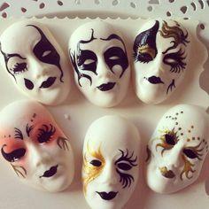 Máscaras venecianas en Azucar by Las Tartas de Mariana