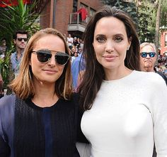 Angelina Jolie With Natalie Portman