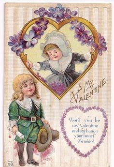 Fancy Antique Cards; Valentine Postcard @ Vintage Touch $4.50