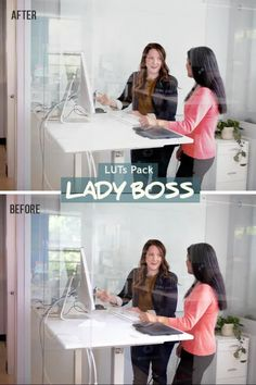 Lady boss luts. Office and business looks. Make your videos look stunning! #colorgradingluts #instagrampresets