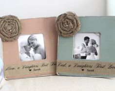 Wedding Gifts for Parents Thank You Gift Personalized Picture Frame Burlap Rustic Wedding Mother of Bride Father of Bride