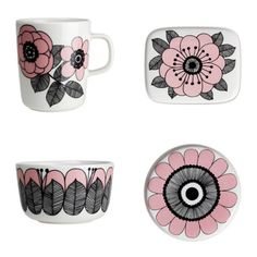 MARIMEKKO OIVA KESTIT JA UUDET VÄRIT ALESSA Marimekko, Home Textile, Textile Design, Diy Tableware, Muse Art, China Art, Scandinavian Home, Ceramic Painting, Inspired Homes