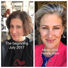 Going gray-starting 9th month of journey. Took 4 processes of all over hi-lights to become blonde for transitioning to gray. 3 months without any color processing. Gray is shining through now.