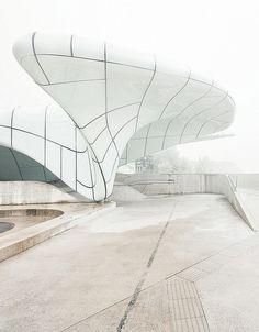 Zaha Hadid Architecture - glass over concrete.