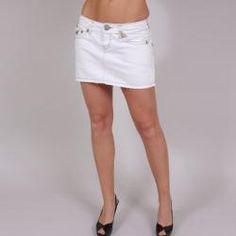 Laguna Beach Women's 'Sunset Beach' White Denim Mini Skirt