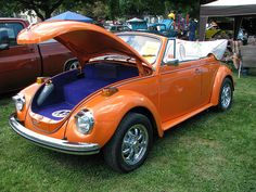 orange. vw. convertible. it's so pretty i could cry.