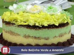 RECEITAS DA RENATTA: Bolo Beijinho Verde e Amarelo