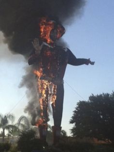 Very sad day for our State. Goodbye Big Tex. :(  Big Tex a Texas State Fair icon burned down on 10-19-12 after greeting people for 60 years at the Fair.