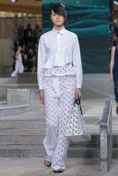 A look from the Kenzo Spring 2015 RTW collection.