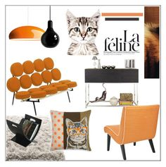 """""""La Feline"""" by pat912 ❤ liked on Polyvore featuring interior, interiors, interior design, home, home decor, interior decorating, FontanaArte, Cyan Design, Mineheart and Madura"""