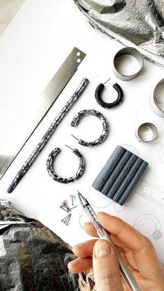 - Damen Schmuck und Accessoires - List of the best jewelry Diy Clay Earrings, Earrings Handmade, Handmade Jewelry, Handmade Art, Paper Earrings, Handmade Ideas, Pendant Earrings, Diy Jewelry To Sell, Jewelry Crafts