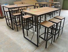 Plus de 1000 id es propos de table haute metal bois - Table haute style industriel ...