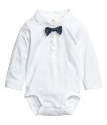 Bodysuit with Bow Tie | White | Kids | H&M US