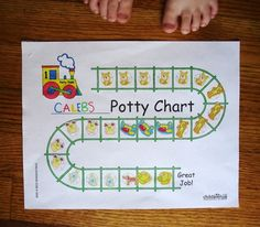 Potty TRAINing chart-- seriously did the trick for Jackson! Each time he filled it up, he got to buy a train car for his track.