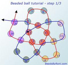 beaded ball tutorial - step 1