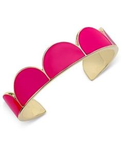 kate spade new york Gold-Tone Pink Enamel Cuff Bracelet - Pink f889244b0ff