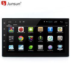"Junsun 7"" 2 din android 6.0 car DVD Player Radio Stereo video 1024*600 Autoradio gps Universale dvd multimedia for vw/kia rio"