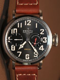 Zenith Pilot Montre d'Aéronef Type 20 Watch - 60mm....but who cares...gorgeous!