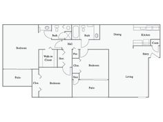 Springs At 127th Floor Plans For Apartments In Plainfield, IL   3 Bedroom  Apartment (Grand Overlook)http://springsapartments.com/127th/ | Pinterest  ...