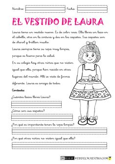 Reading Comprehension worksheets in Spanish grade. Learning Spanish For Kids, Teaching Spanish, Learn Spanish, Teacher Tools, Teacher Resources, Learning Sight Words, Reading Comprehension Worksheets, Classroom Language, Spanish Teacher