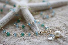 Wapped Loop/Apatite necklace   koaniani