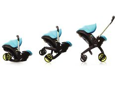 Doona Travel System - Doona car seat makes transporting baby easier by instantly folding out to become a stroller