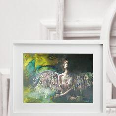 Nach Einbruch der Dunkelheit 050216, im Interieur Artworks, Angels, Painting, Atelier, Darkness, Idea Paint, Angel, Painting Art, Paintings