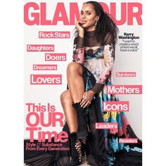 """The life of a black woman matters"" – Kerry Washington covers Glamour Magazine's May 2017 Issue"