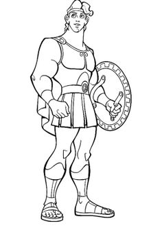 Hercules Defender Of Truth Coloring Pages - Hercules Coloring Pages : KidsDrawing – Free Coloring Pages Online